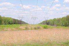 Elettricità Pilons fotografia stock