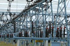 Elettricità in Polonia Fotografia Stock