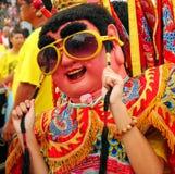 Elettro ballerino al neon techno di Dio in Taiwan Fotografia Stock