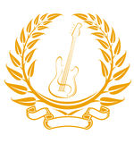 Elettro simbolo della chitarra Fotografia Stock Libera da Diritti