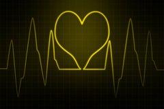 Elettrocardiogramma di ECG Immagine astratta di impulso Fotografia Stock Libera da Diritti