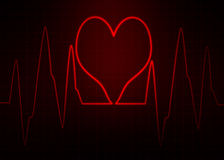 Elettrocardiogramma di ECG Immagine astratta di impulso Fotografie Stock Libere da Diritti