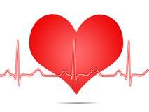 Elettrocardiogramma, ecg, grafico, tracciato di impulso Fotografia Stock Libera da Diritti