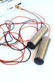 Elettrodi medici fotografia stock
