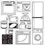 Elettrodomestici da cucina Fotografia Stock