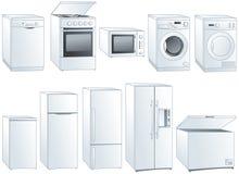 Illustrazioni degli elettrodomestici messe illustrazione di stock