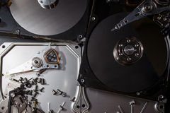 Elettronica del residuo del disco rigido Fotografia Stock