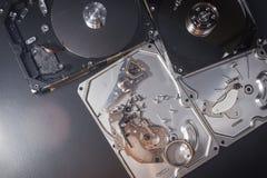 Elettronica del residuo del disco rigido Immagine Stock