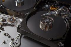 Elettronica del residuo del disco rigido Fotografie Stock Libere da Diritti