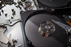 Elettronica del residuo del disco rigido Immagini Stock Libere da Diritti
