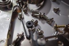 Elettronica del residuo del disco rigido Fotografie Stock