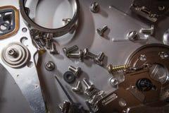 Elettronica del residuo del disco rigido Immagine Stock Libera da Diritti