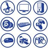 Elettronica di Pictogrammes. Fotografia Stock Libera da Diritti