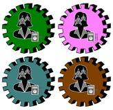 Elettrotecnico femminile Set Immagini Stock