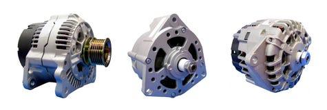 Elettrotipia-generatori dell'automobile, dinamo Fotografie Stock