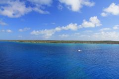 Eleuthera, Bahamas. View from sea on Eleuthera island, Bahamas Stock Image