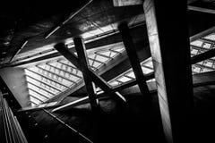 Elevação conceptual moderna - construção da tecnologia Fotografia de Stock Royalty Free