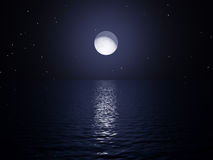 Elevação da lua Foto de Stock Royalty Free