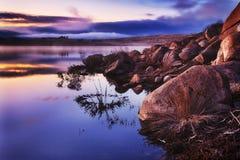 Elevação da névoa do lago da manutenção programada Jindabyne Fotos de Stock