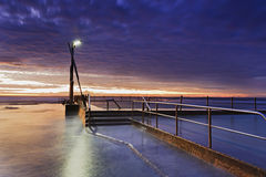 Elevação das etapas de Mona Vale Pool do mar fotos de stock