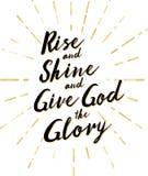 A elevação e o brilho e dão a deus a glória Imagens de Stock Royalty Free