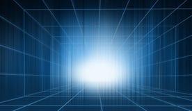 Elevação futurista - a tecnologia encerrou a série do conceito do contexto do estúdio Imagens de Stock Royalty Free