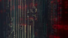 Elevação gerada por computador - animação da tecnologia digital da tecnologia fundo da rendição 3D 4K, ultra definição de HD filme