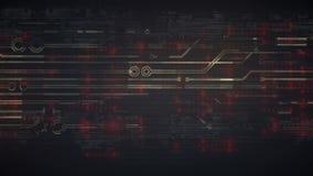 Elevação gerada por computador - animação da tecnologia digital da tecnologia fundo da rendição 3D 4K, ultra definição de HD video estoque