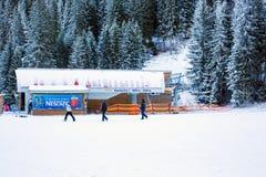 Elevación de Banderitza en el polyana de Banderishka, estación de esquí Fotos de archivo libres de regalías