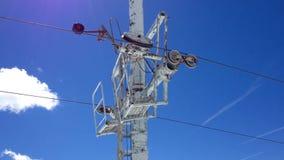 Elevación de esquí almacen de metraje de vídeo