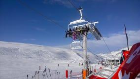 Elevación de esquí Foto de archivo libre de regalías