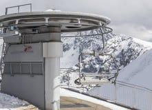 Elevación de esquí Imágenes de archivo libres de regalías