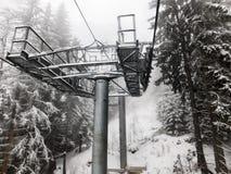 Elevación de esquí imagen de archivo libre de regalías