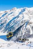Elevación de esquí Estación de esquí Livigno Fotos de archivo libres de regalías