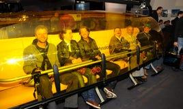 Elevación de silla buble de Interalpin 2011-Yellow Fotografía de archivo