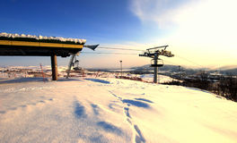 Elevación de silla del centro turístico Noruega Imagen de archivo