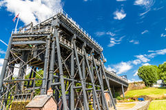 Elevación del barco de Anderton, escalera móvil del canal Imagen de archivo
