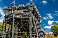 Elevación del barco de Anderton, escalera móvil del canal Foto de archivo libre de regalías