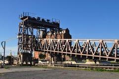 Elevación del cargamento del vehículo, puerto Adelaide Foto de archivo