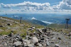 Elevación del teleférico, Ski Lift Imagen de archivo