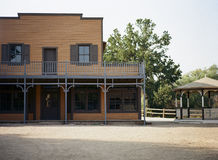Elevación delantera en el edificio del oeste viejo Fotos de archivo
