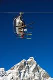 Elevación de esquí Matterhorn Imagen de archivo libre de regalías