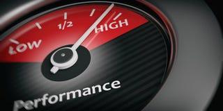 elevado desempenho do indicador do carro da rendição 3d ilustração stock