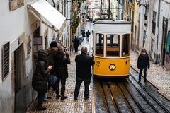Free Elevador Da Bica In Lisbon Stock Photos - 125172723