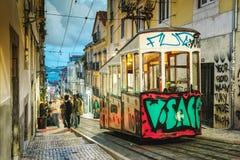 Elevador da Bica, Lisbon -, Portugalia Obrazy Stock