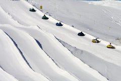 Elevador da corda da câmara de ar da neve. fotos de stock royalty free