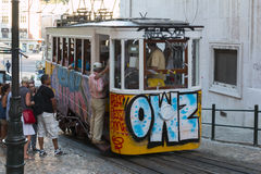Elevador da Gloria, Lisbon Stock Photos