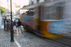 Elevador da Gloria, Lisbon Royalty Free Stock Photo