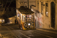 Elevador da Gloria, Lisbon Royalty Free Stock Images