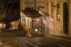 Elevador da Gloria, Lisbona Immagini Stock Libere da Diritti